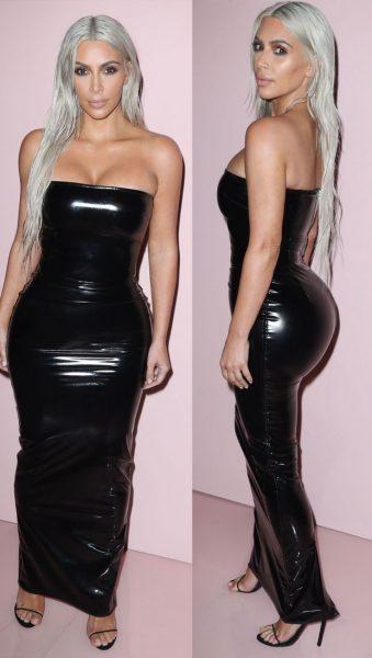Latex kleding Kim Kardashian