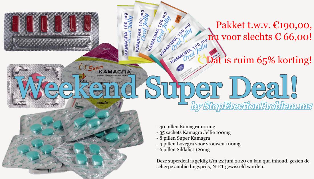Weekend Super Deal: 65% korting op Sildenafil pakket! - SMDOME